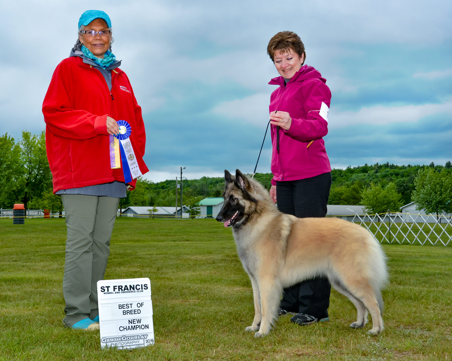 Jaina Best of Breed and new champion, June 2016